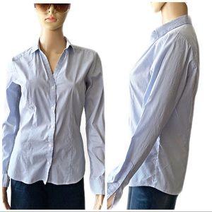 ❤️ H&M Blue Striped Shirt Size 10